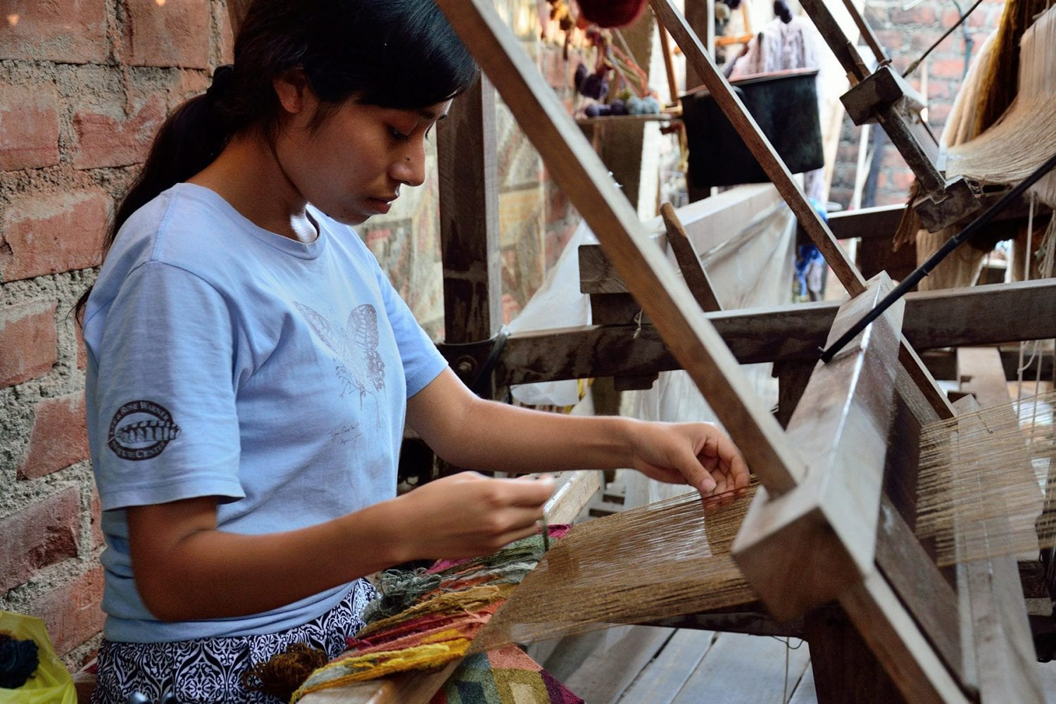 Peruvian artisans at work